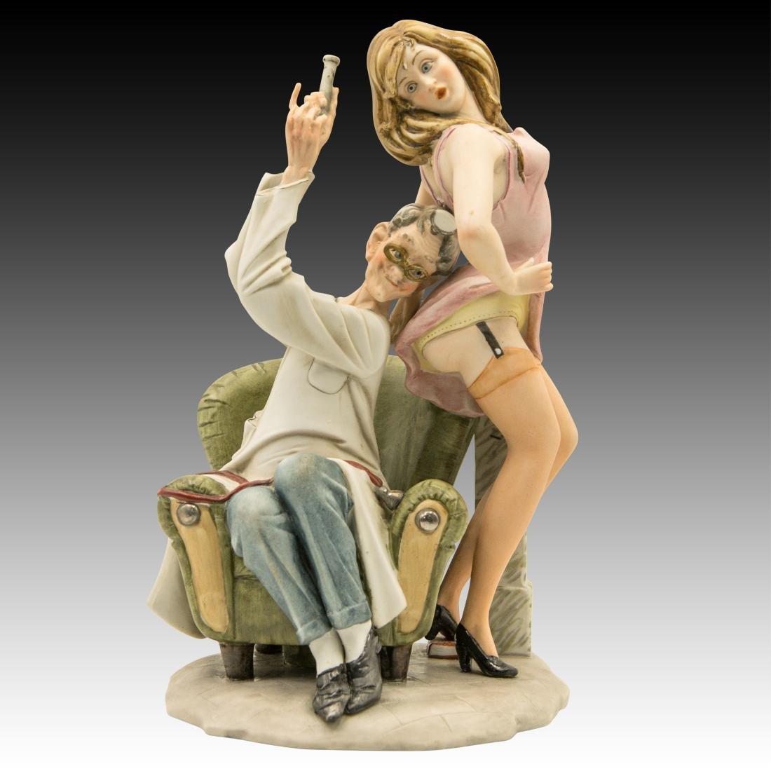 "Capodimonte ""Doctor's Delight"" Comical Figurine"