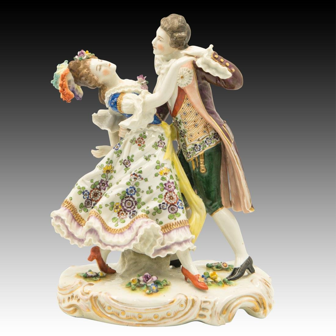 Sitzendorf French Style Dancing Couple Figurine