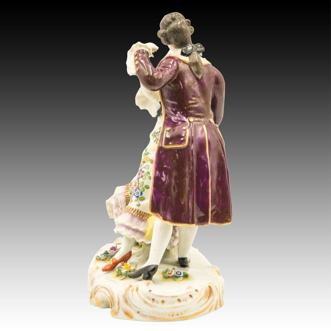 Sitzendorf French Style Dancing Couple Figurine - 2