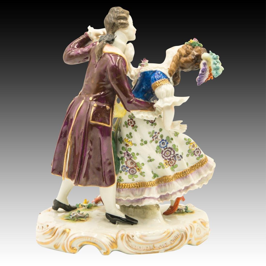 Sitzendorf French Style Dancing Couple Figurine - 3