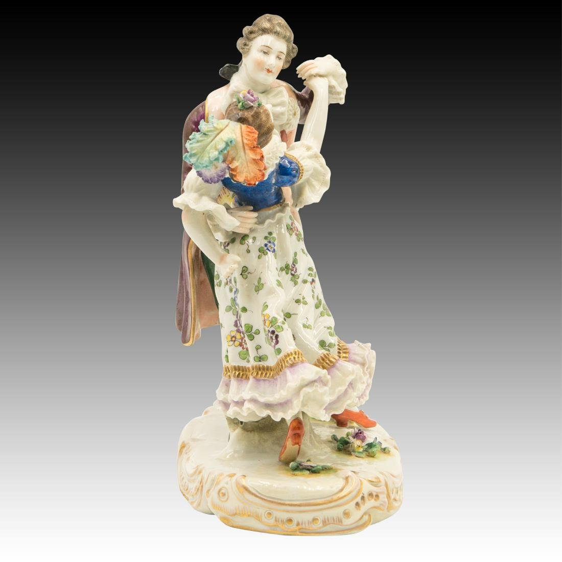 Sitzendorf French Style Dancing Couple Figurine - 4