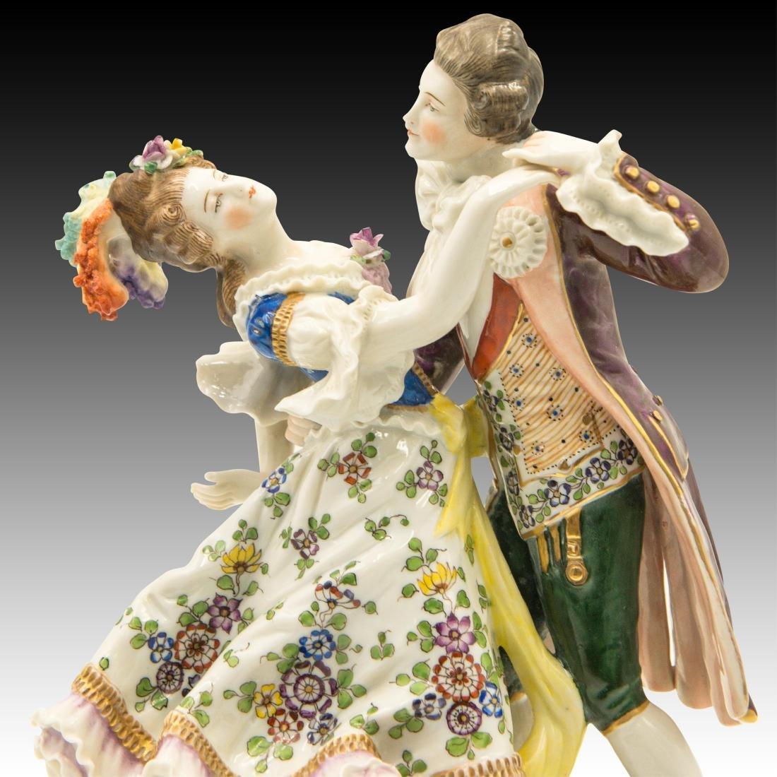 Sitzendorf French Style Dancing Couple Figurine - 5