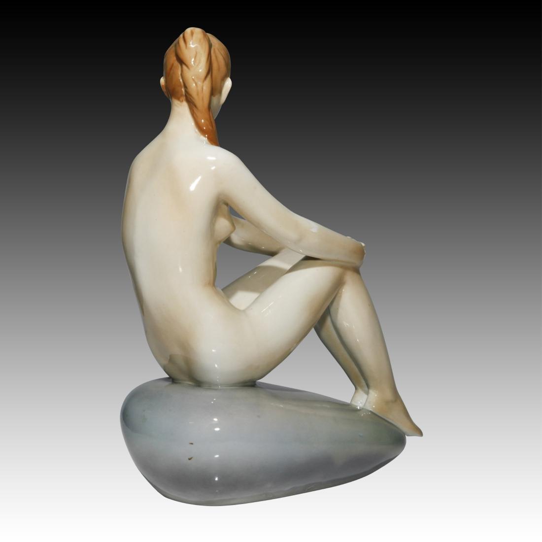 Zsolnan Nude Female on a Rock 4027 - 2