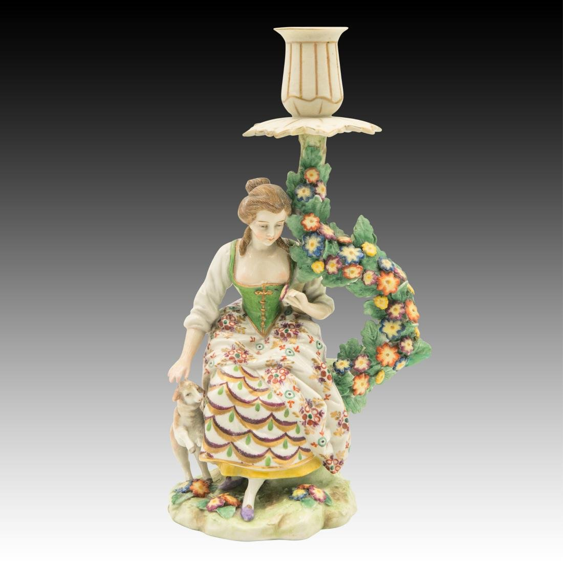 Young Maiden with a Sheep Candlestick