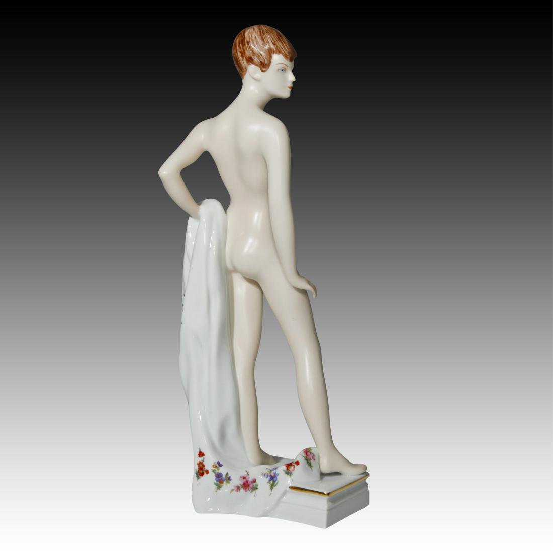 Royal Dux Nude Female with Towel Figurine - 3
