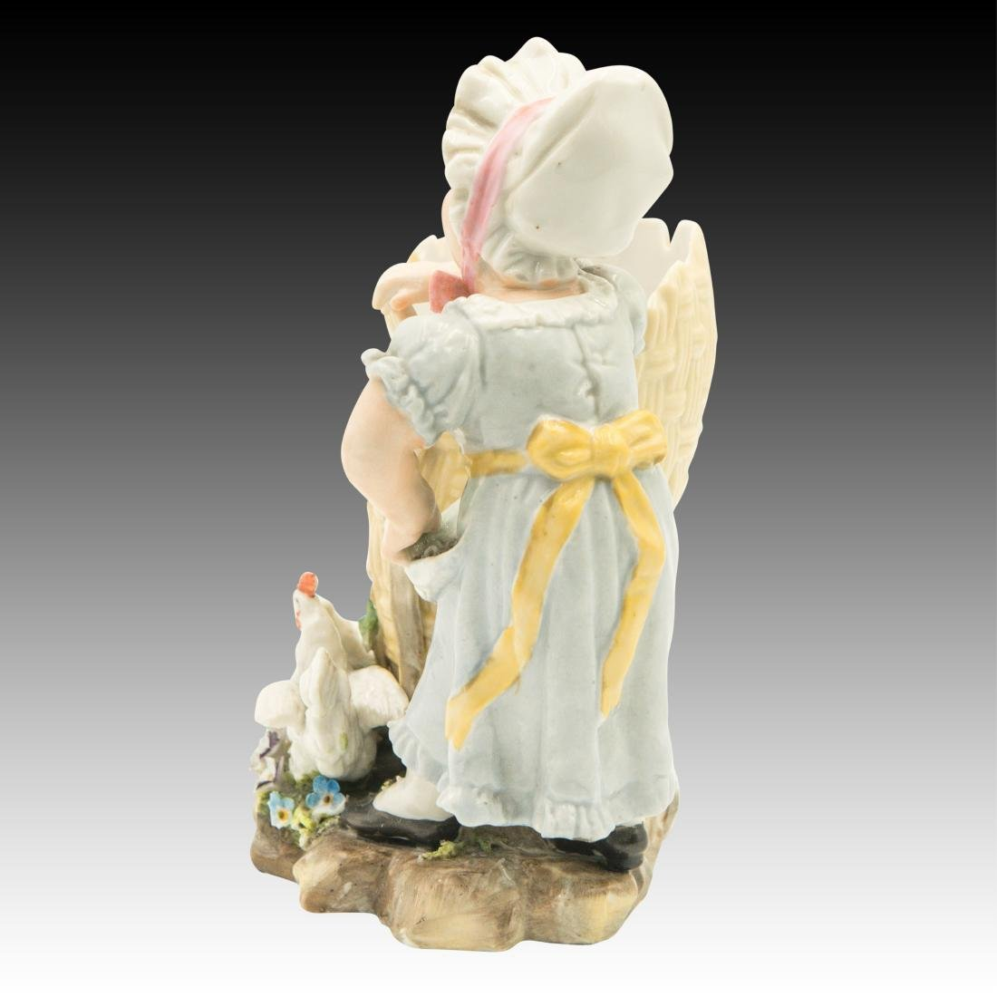 Young Girl Leaning on a Basket Figurine - 2