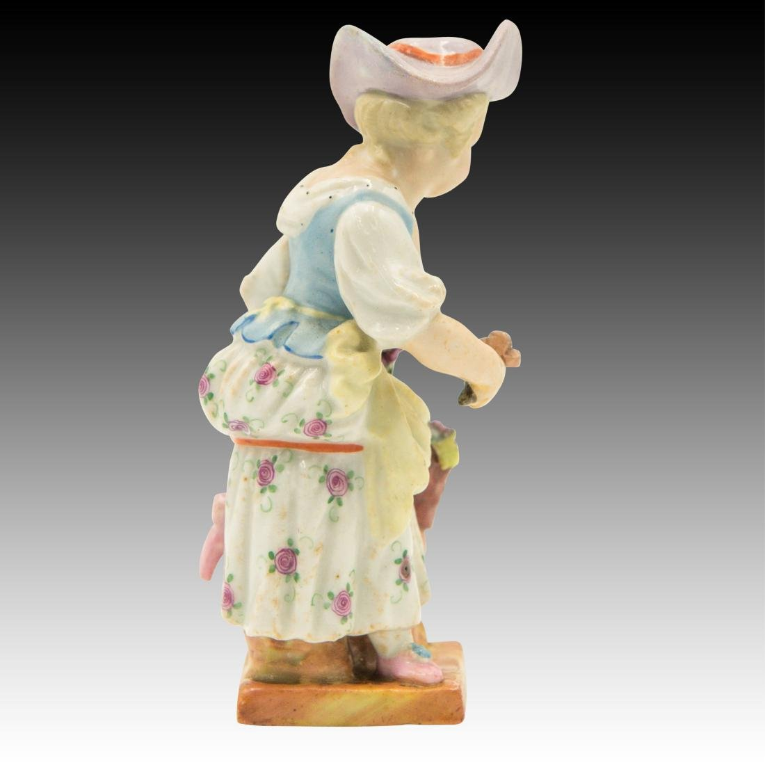 Small Figurine of a Young Girl with Flowers - 2