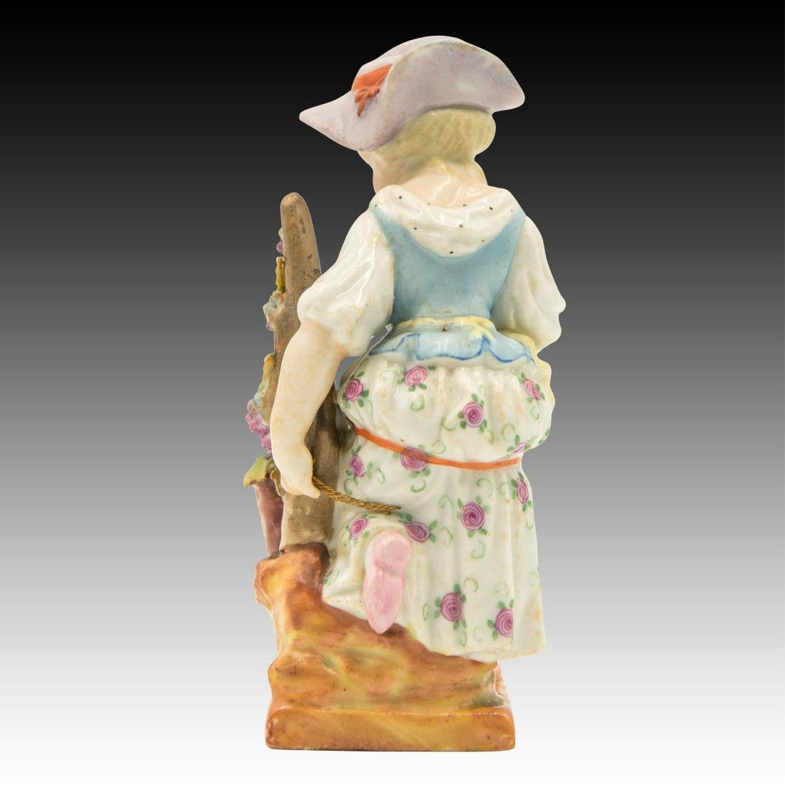 Small Figurine of a Young Girl with Flowers - 3