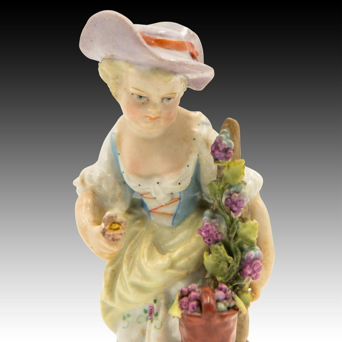 Small Figurine of a Young Girl with Flowers - 5