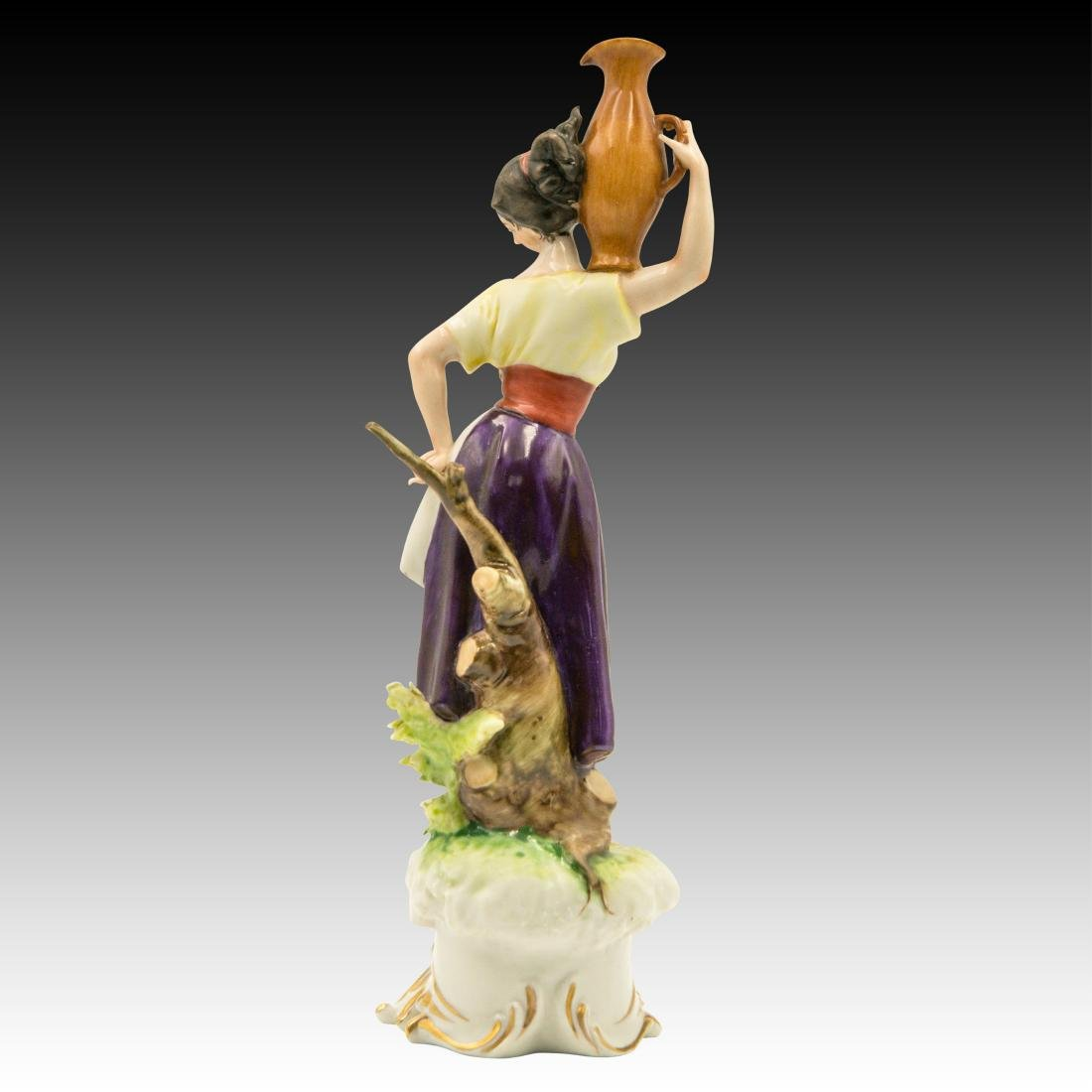 Young Peasant Woman Carrying a Water Jug Figurine - 3