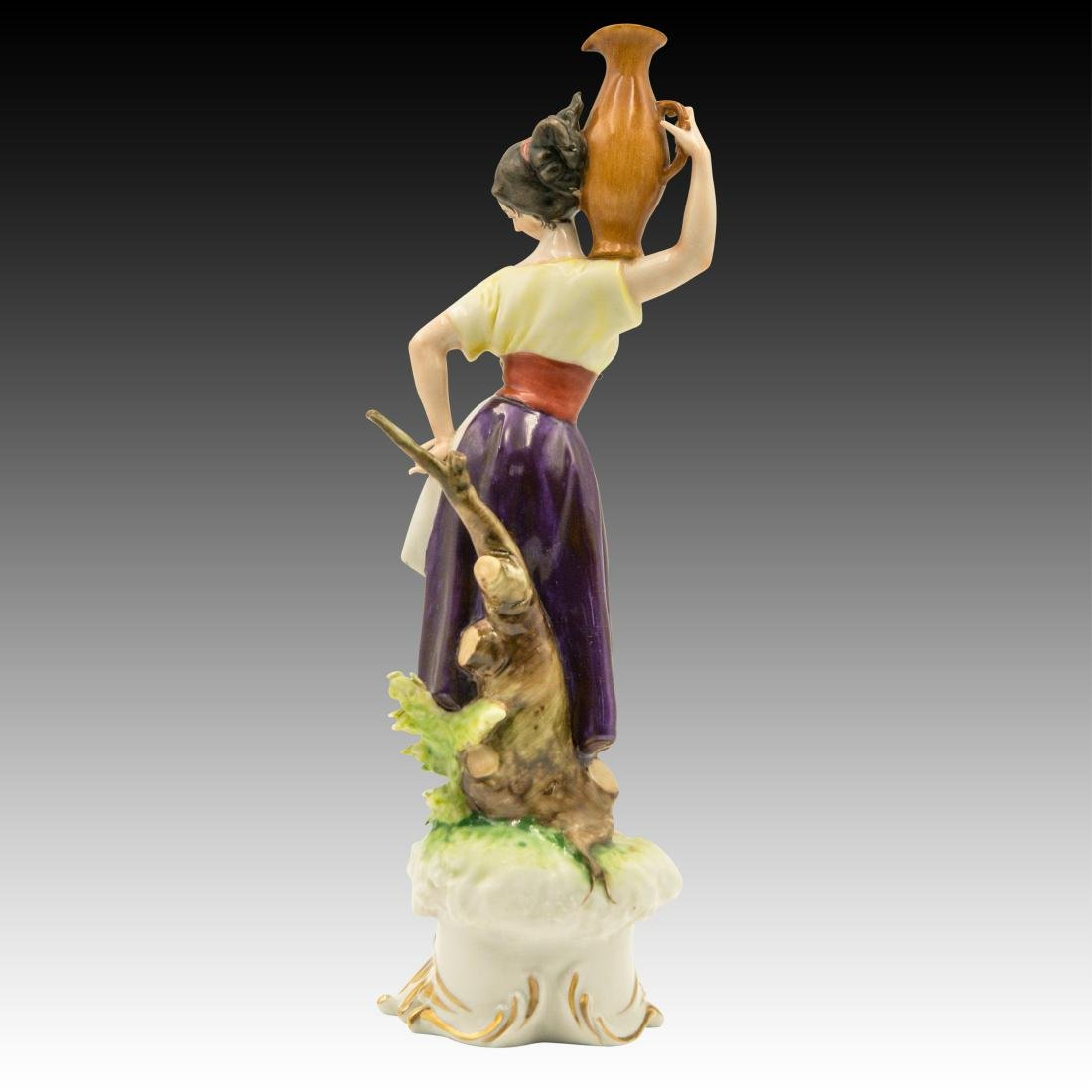 Young Peasant Woman Carrying a Water Jug Figurine - 4