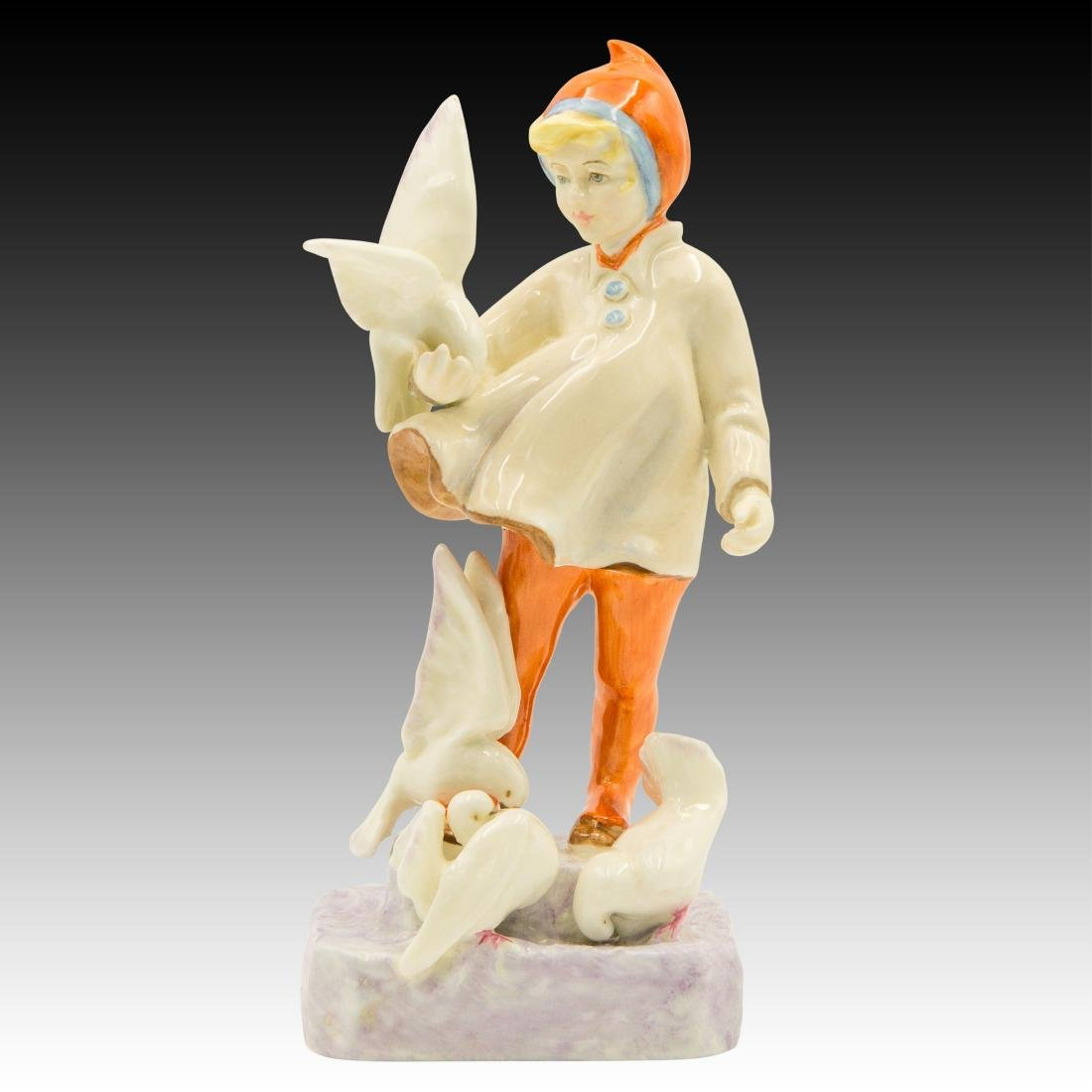 """Royal Worcester Figurine """"November"""" by F. Doughty"""