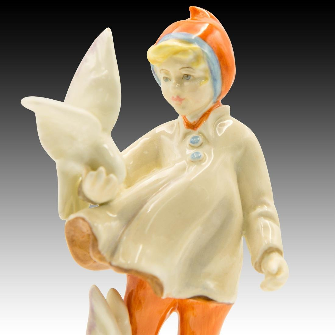 """Royal Worcester Figurine """"November"""" by F. Doughty - 5"""