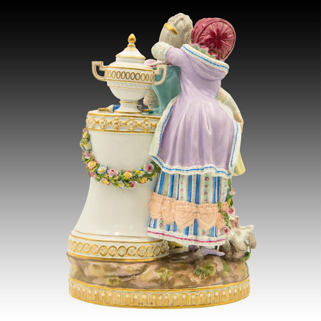 Meissen Figurine with 2 Women with Birds and Urn - 3