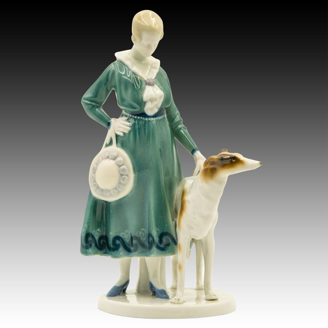 Goebel Lady Borzoi Double Crown Mark Figurine