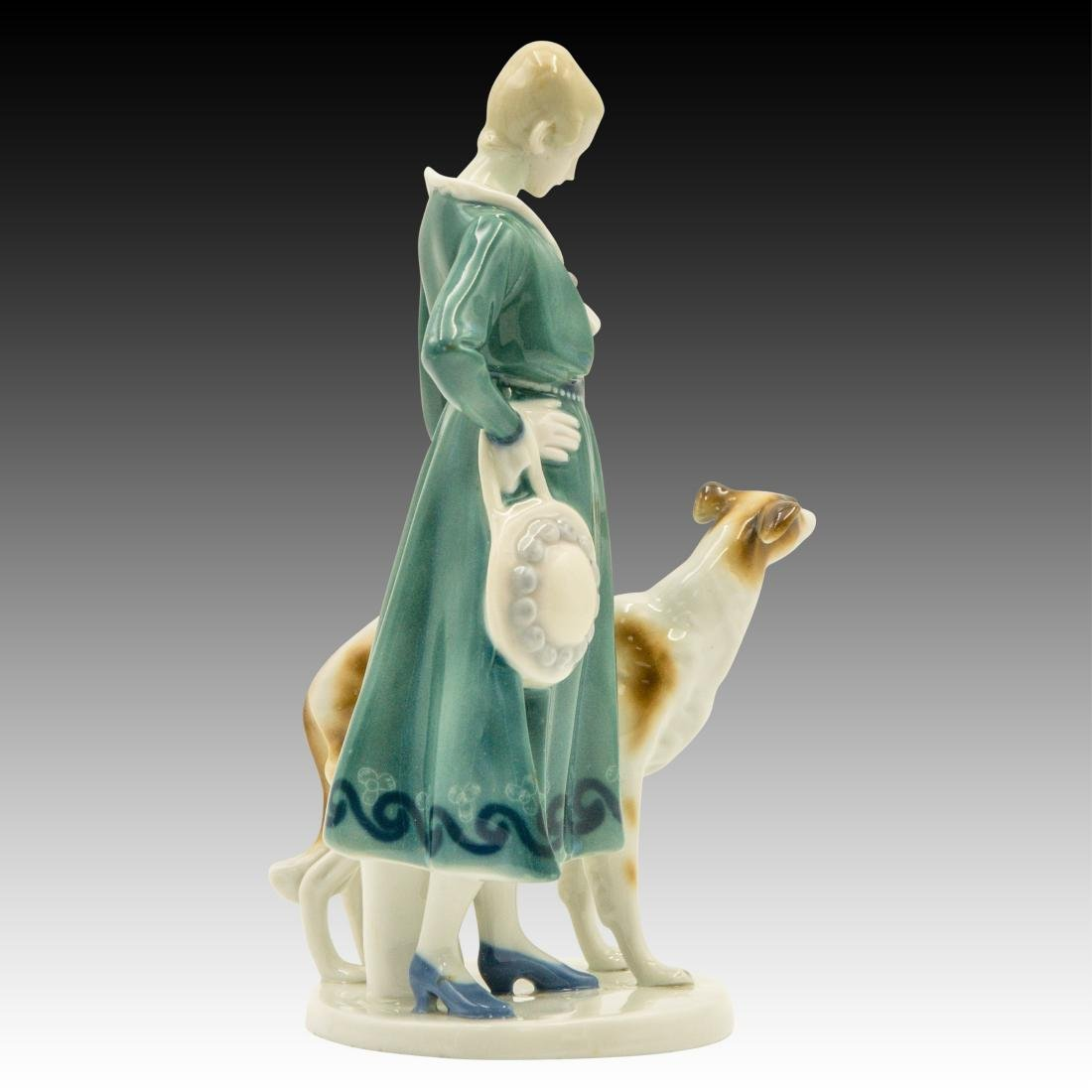 Goebel Lady Borzoi Double Crown Mark Figurine - 2
