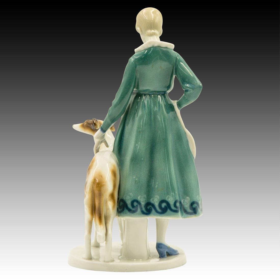 Goebel Lady Borzoi Double Crown Mark Figurine - 3