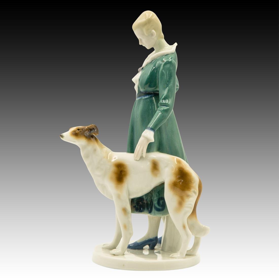 Goebel Lady Borzoi Double Crown Mark Figurine - 4