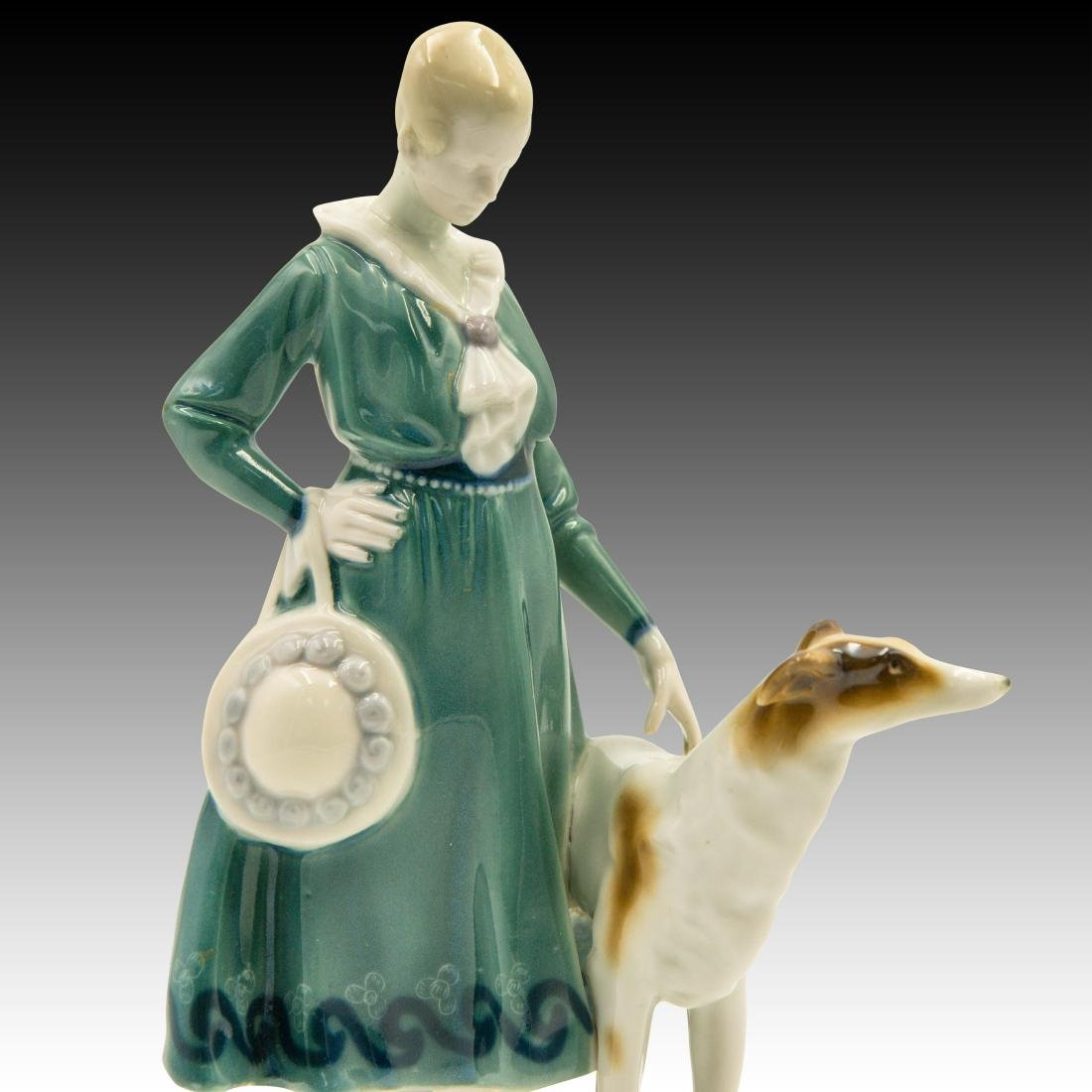 Goebel Lady Borzoi Double Crown Mark Figurine - 5