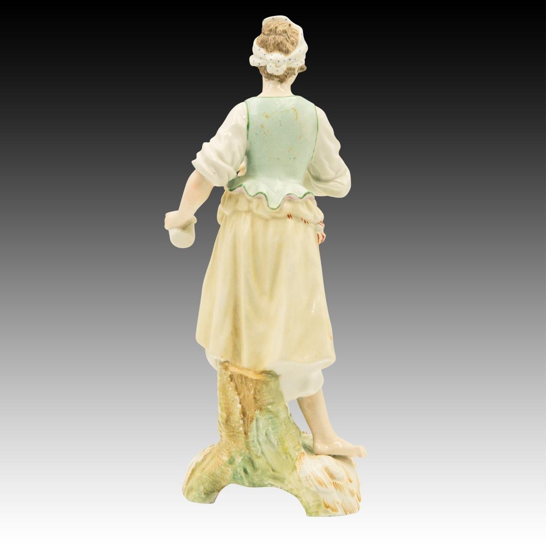 Barefoot Peasant Girl Figurine Spilling Her Drink - 3