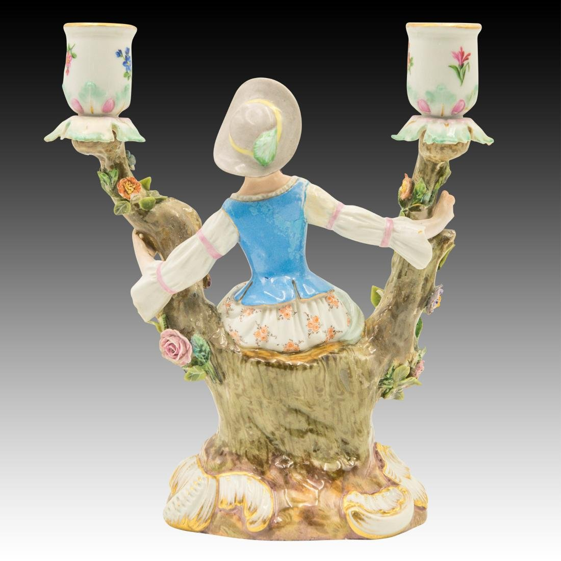 Meissen Young Woman Double Candle Holder - 3