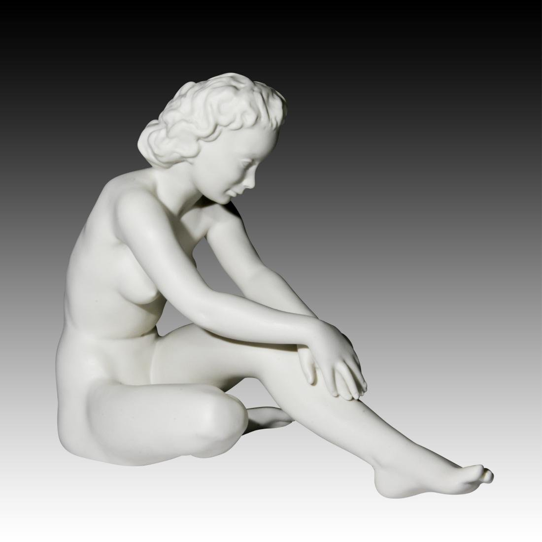 Hutschenreuther Large Seated Nude Woman Figurine