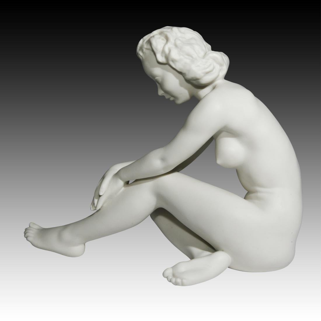 Hutschenreuther Large Seated Nude Woman Figurine - 2