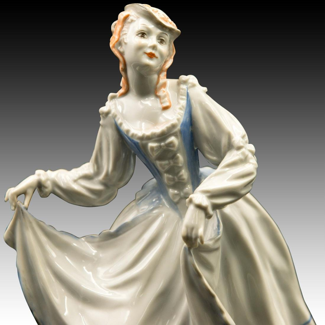 Rosenthal Rococo Lady Dancer Figurine - 5