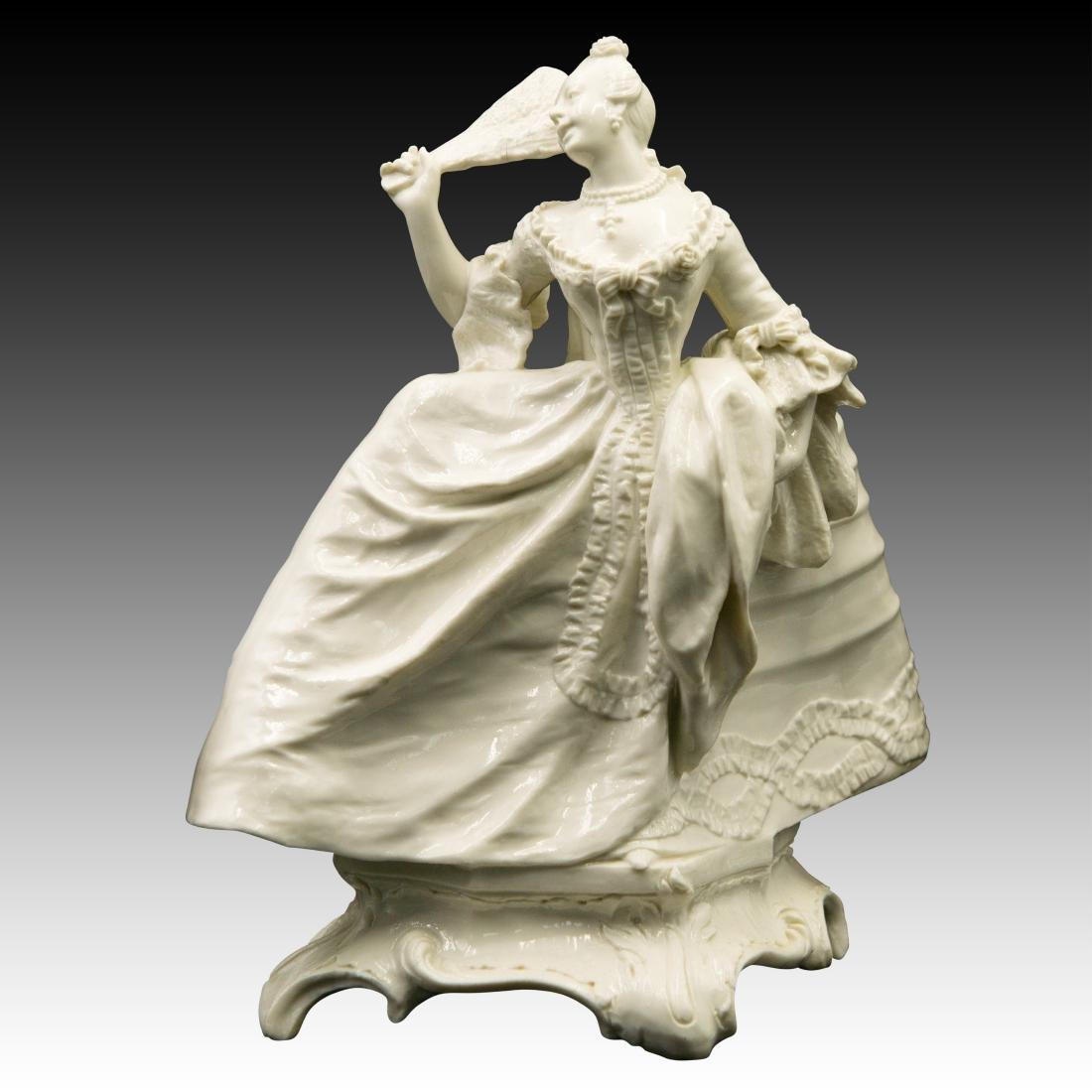 Nymphenburg Leda with a Fan Figurine