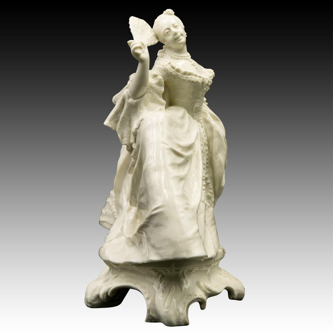 Nymphenburg Leda with a Fan Figurine - 2