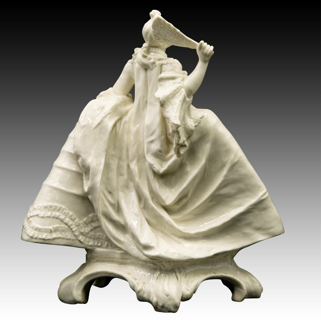 Nymphenburg Leda with a Fan Figurine - 3