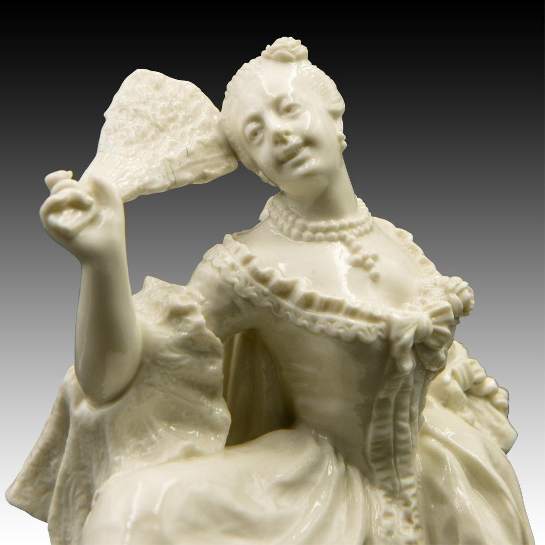 Nymphenburg Leda with a Fan Figurine - 5
