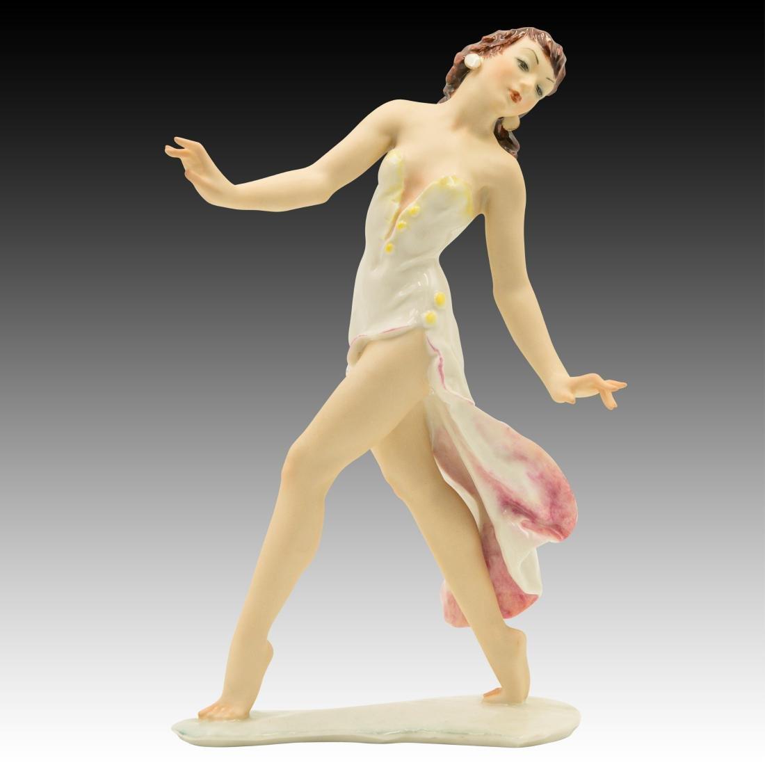 Hutschenreuther Art Deco Woman Dancer Figurine