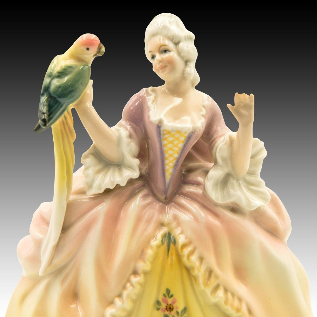 Karl Ens Lady with a Parrot Figurine - 5
