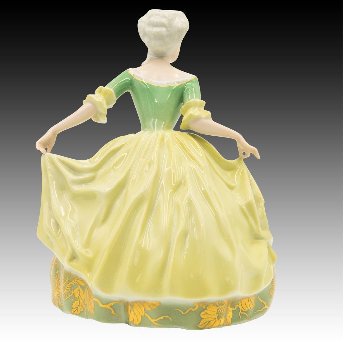 Rosenthal Rococo Dancer in Gold Green Dress - 3
