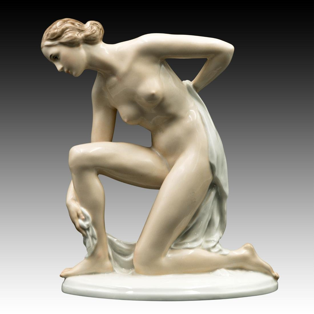 Rosenthal Figurine Female Drying off with a Towel
