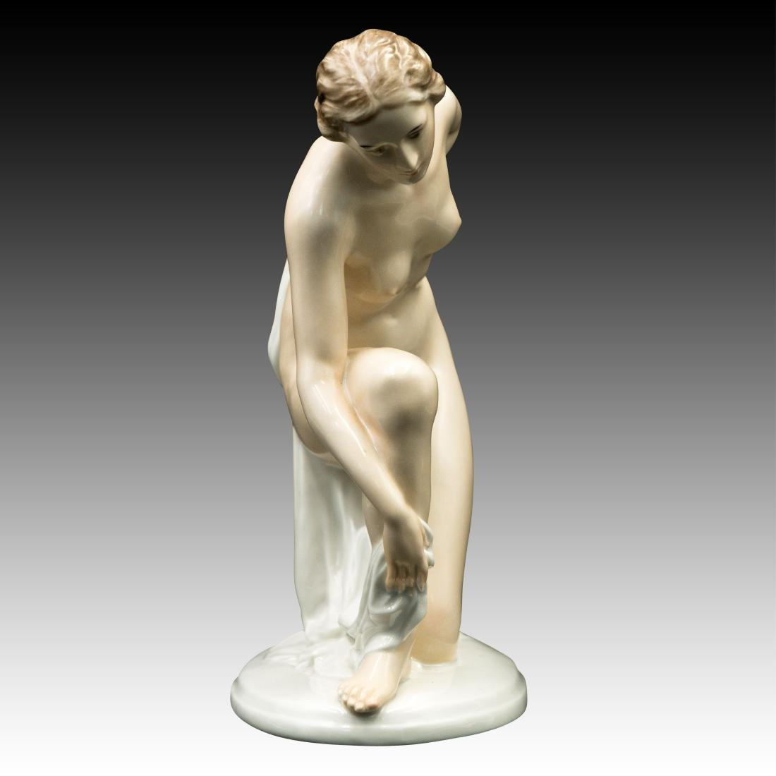 Rosenthal Figurine Female Drying off with a Towel - 2