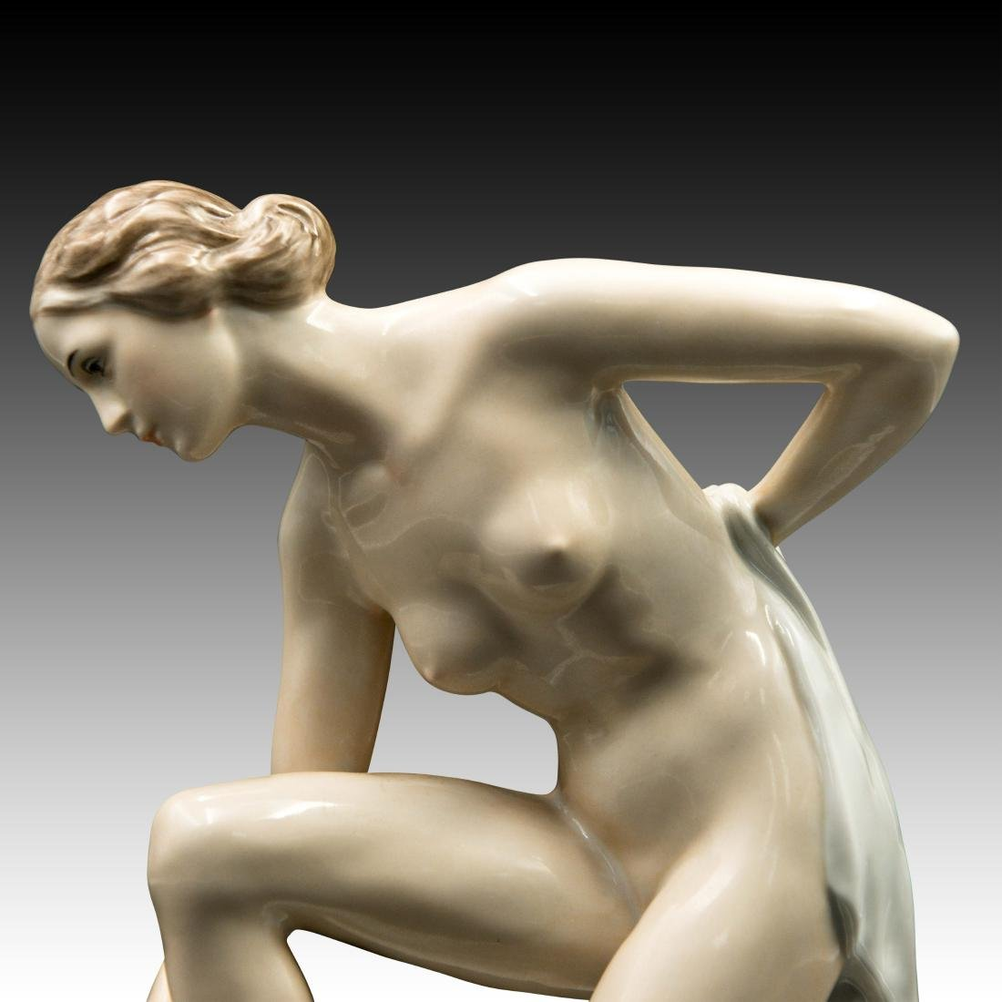 Rosenthal Figurine Female Drying off with a Towel - 5