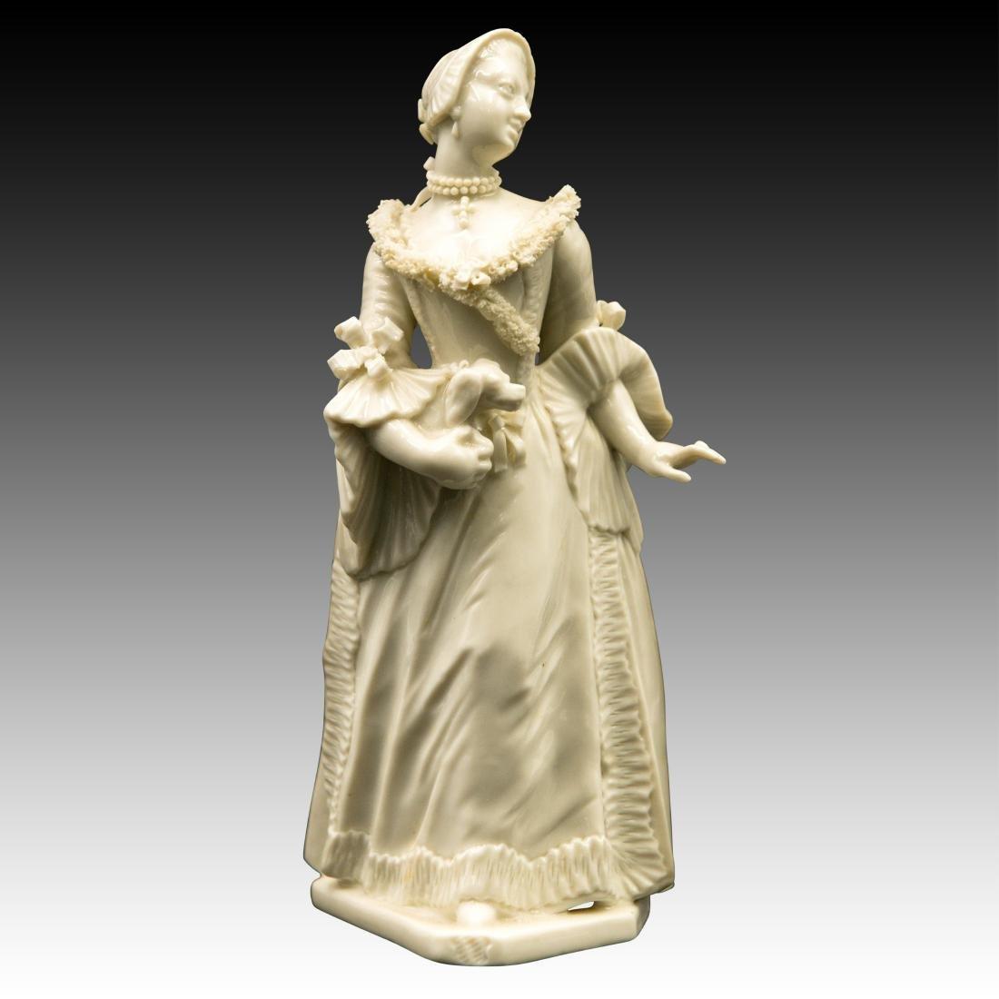 Nymphenburg Bustelli Figurine Lady with Dog