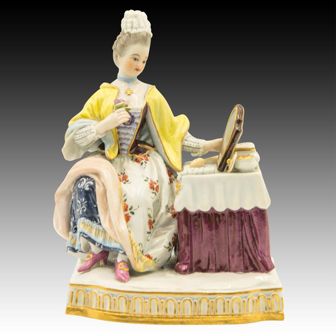Meissen Lady at the Dressing Table Figurine