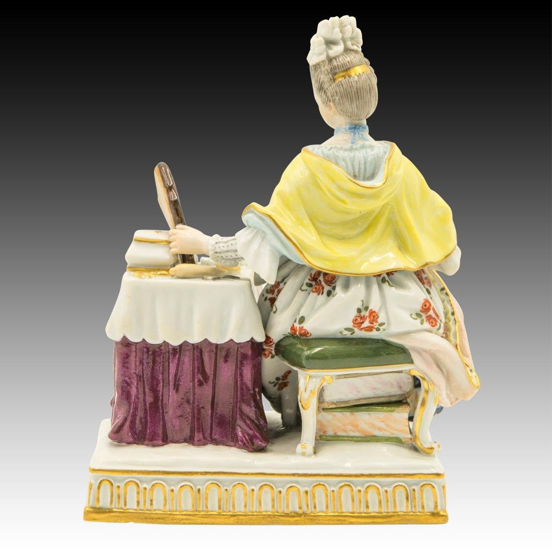 Meissen Lady at the Dressing Table Figurine - 3