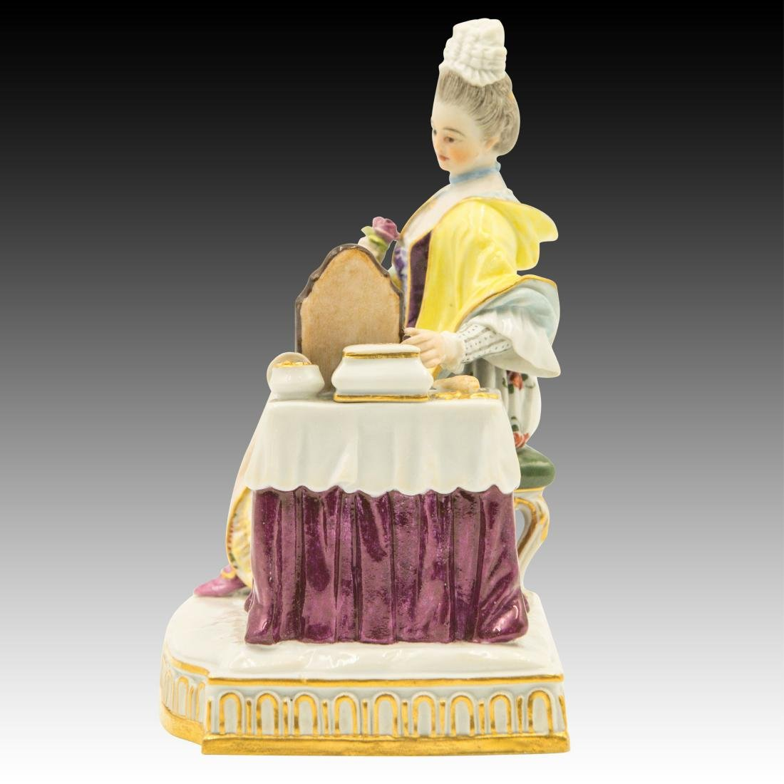 Meissen Lady at the Dressing Table Figurine - 4