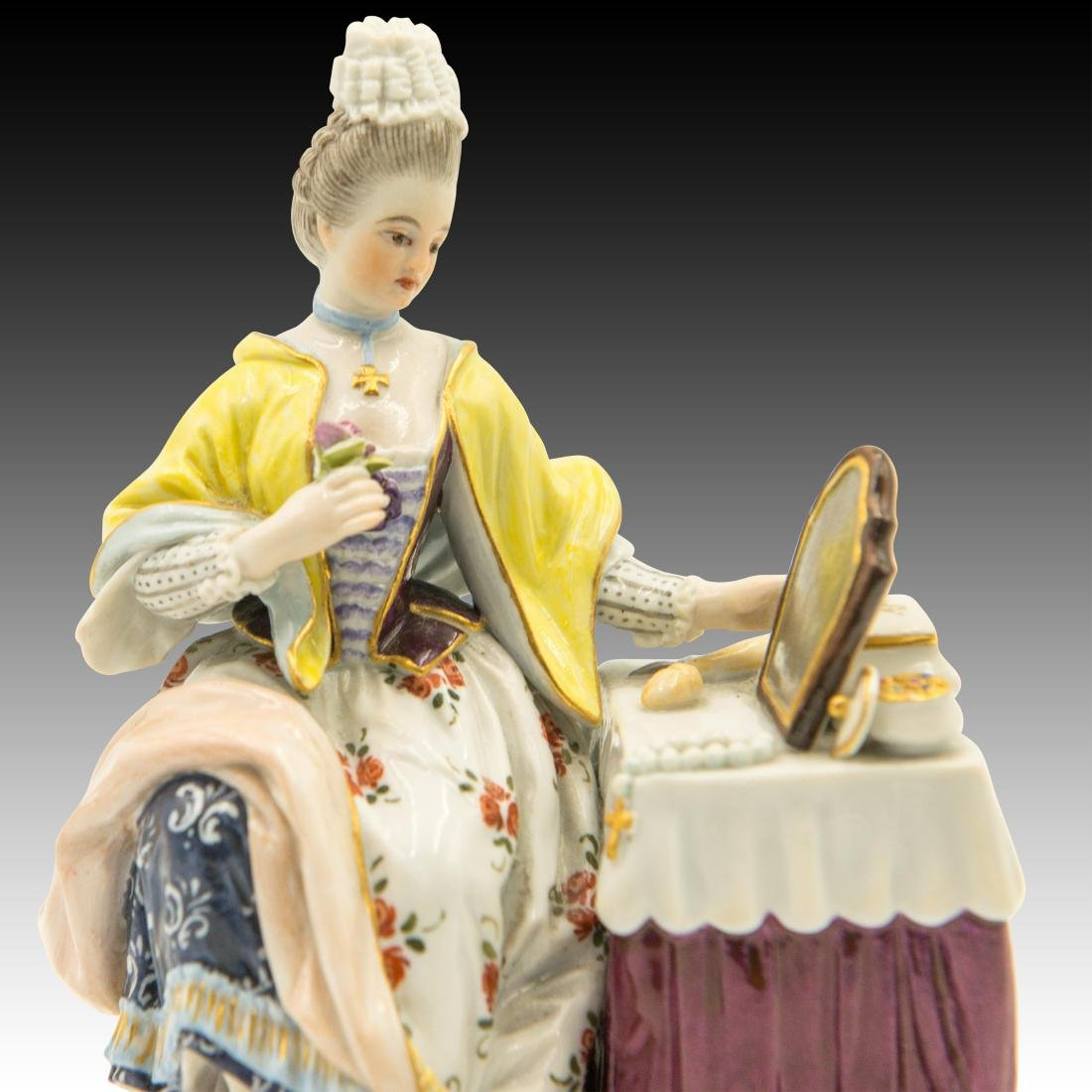 Meissen Lady at the Dressing Table Figurine - 5