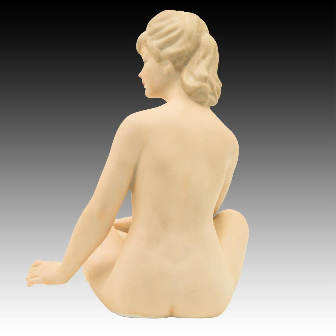 Wallendorf Seated Art Deco Nude Woman Sunbather - 3