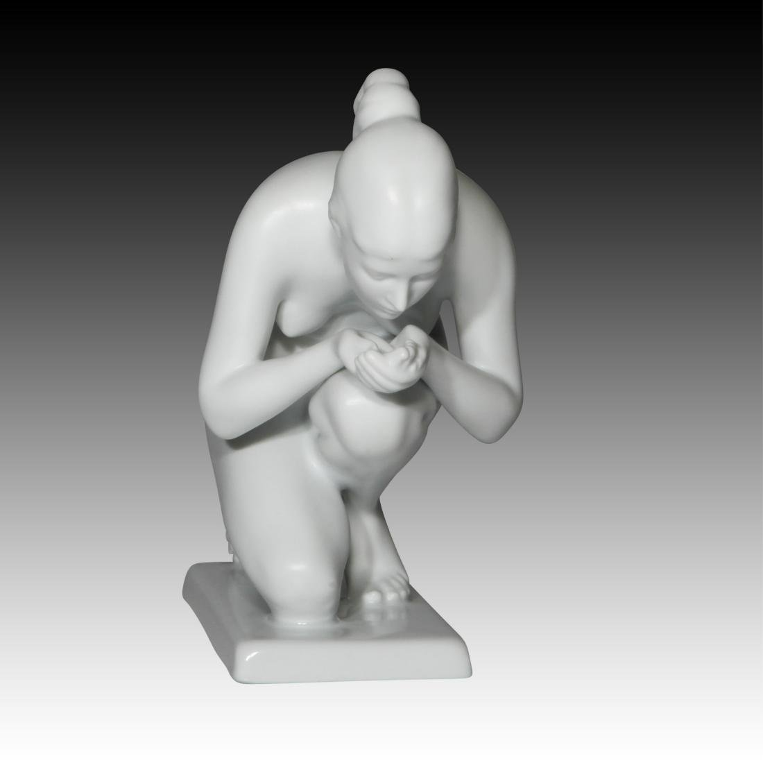 Rosenthal Nude Female Drinking Water Figurine
