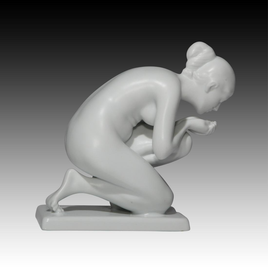 Rosenthal Nude Female Drinking Water Figurine - 2