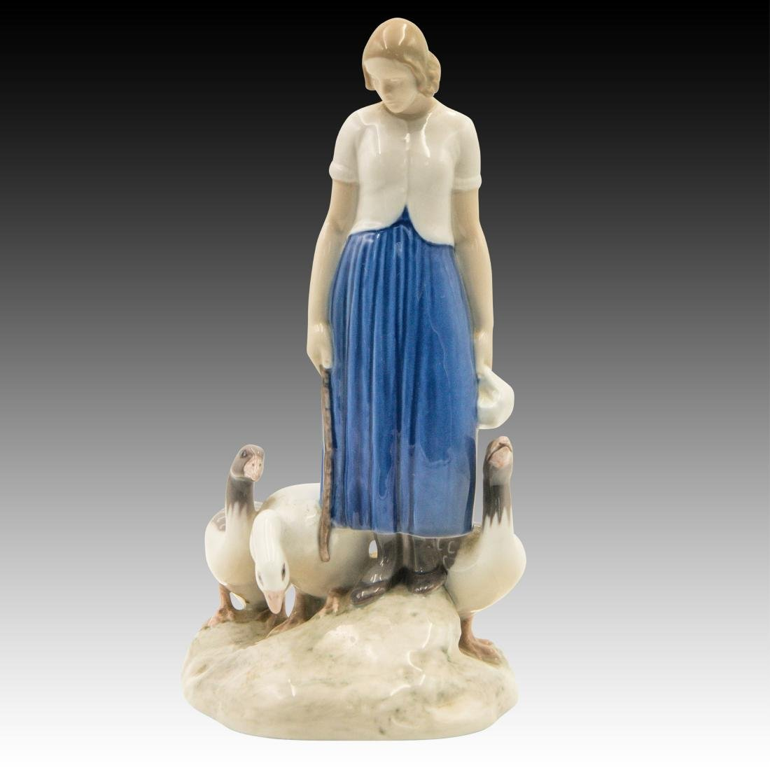 Bing & Grondahl Woman with 3 Geese # 2254