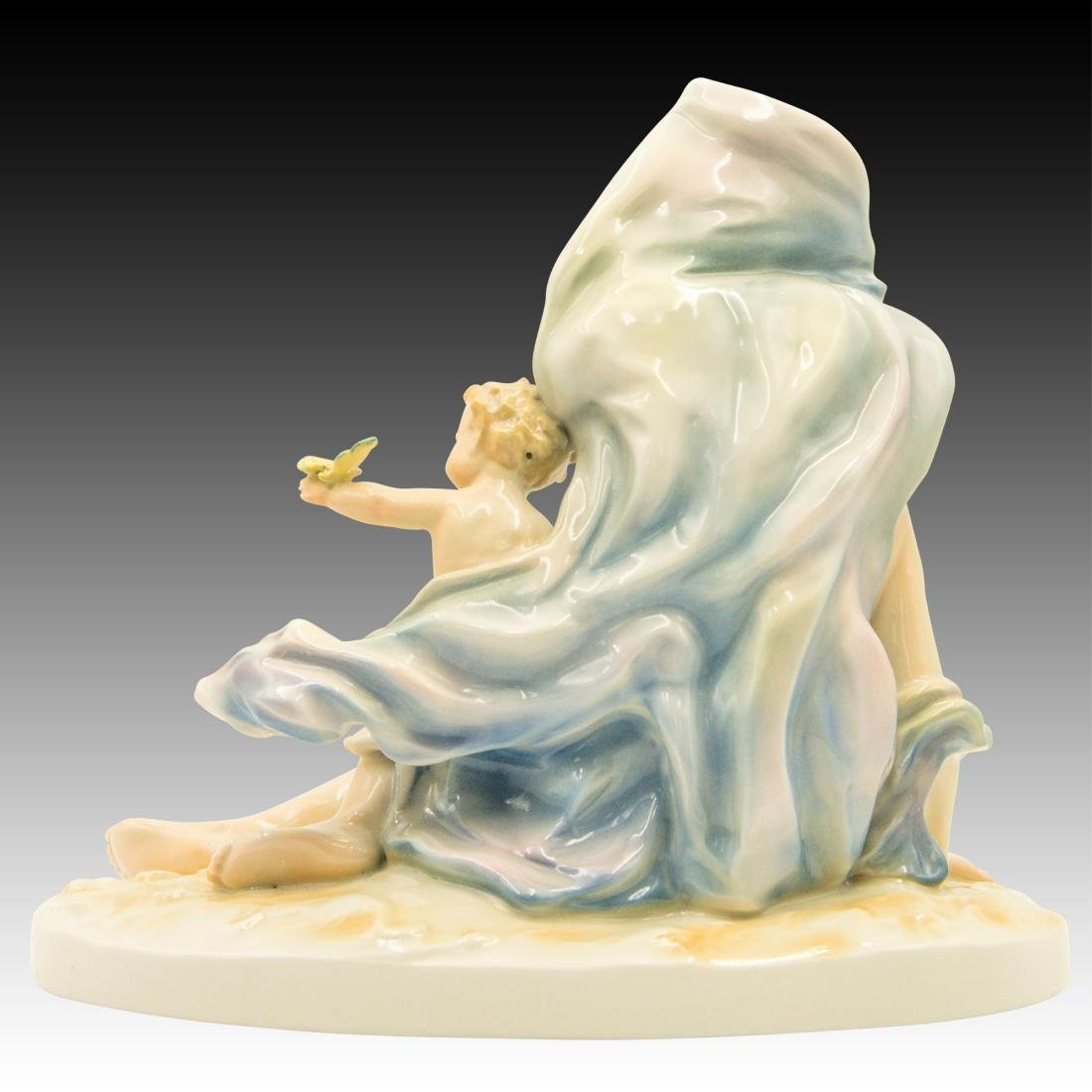 Karl ENS Porcelain Nude Woman with Child Figurine - 3