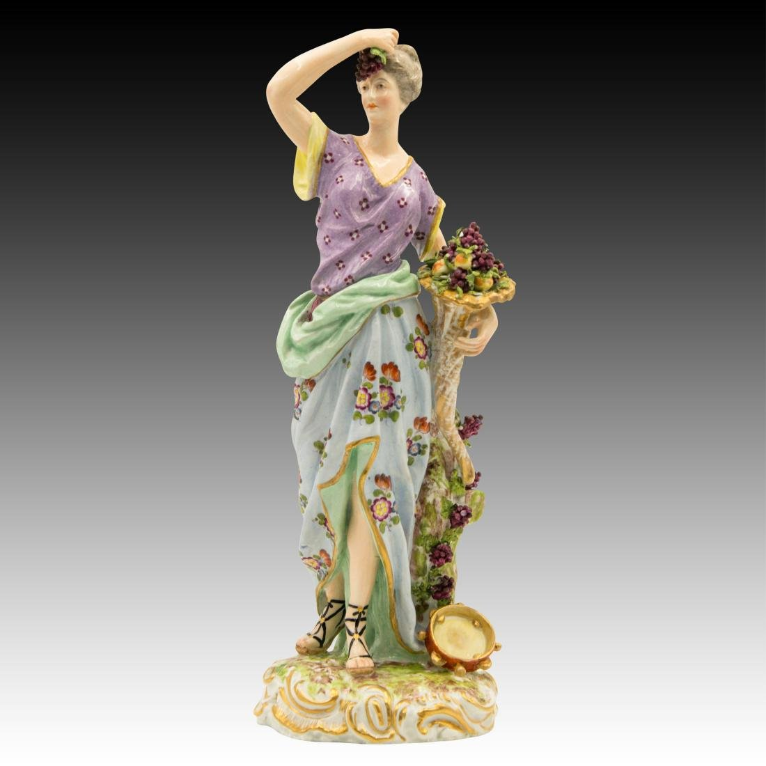 Meissen Female with Horn of Plenty and Grapes