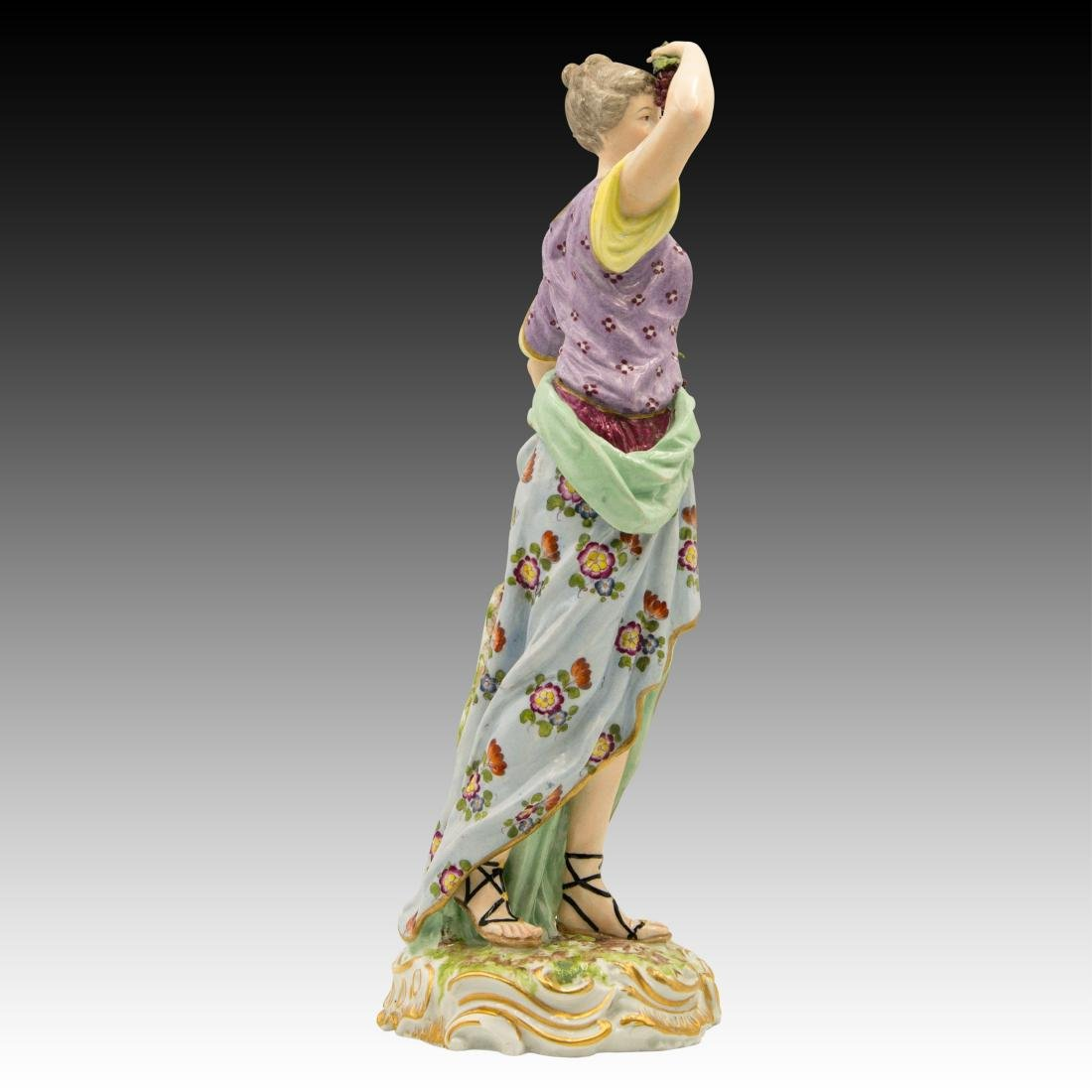 Meissen Female with Horn of Plenty and Grapes - 2
